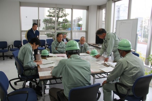 防災センター 対策本部を設置し、指揮指示訓練